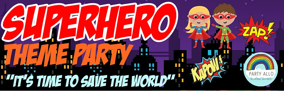 Superheroes Inspired Theme Party Package
