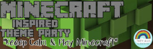 Minecraft Inspired Theme Party Package