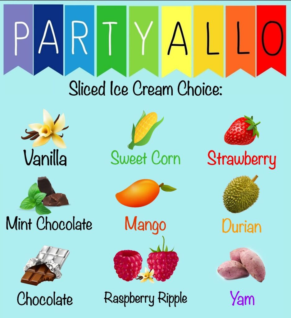 PartyAllo Sliced Ice Cream Station Flavours