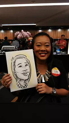 PartyAllo Singapore caricature in singapore