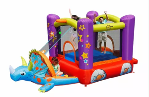 PartyAllo Inflatable Carnival Game Rental Singapore dino bouncy